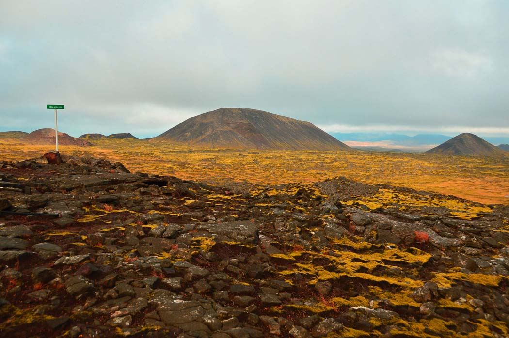 into the volcano iceland