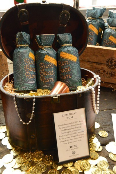 bottles of ironworks rum in a display