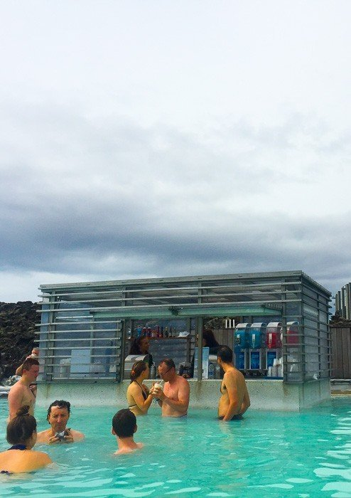 The bar in the Blue Lagoon Iceland