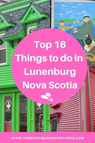Looking for a lovely small town with loads of character, interesting stories and very instagrammable streets? Here it is - and the top 16 things to do in Lunenburg and around Lunenburg Nova Scotia - great places to eat seafood, where to sleep, the best coffee, the best tour, NS rum, Blue Rocks. Peggys Cove, Mahones Bay and more #lunenburg #novascotia #canadaplacestogo #novascotiathingstodoin