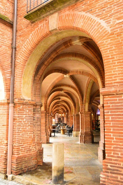 The archways of the main square in Montauban