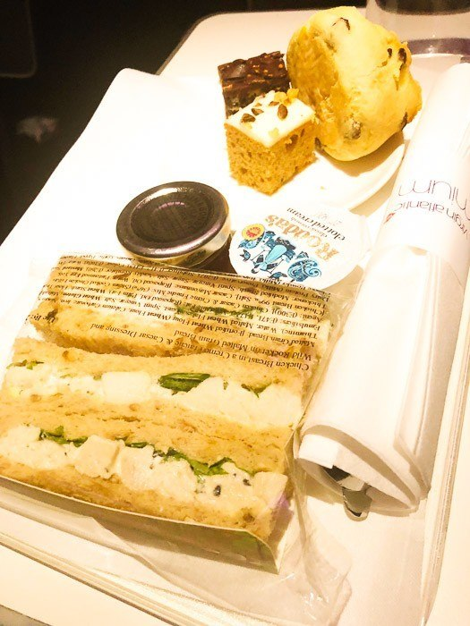 premium economy virgin atlantic sandwiches and afternoon tea