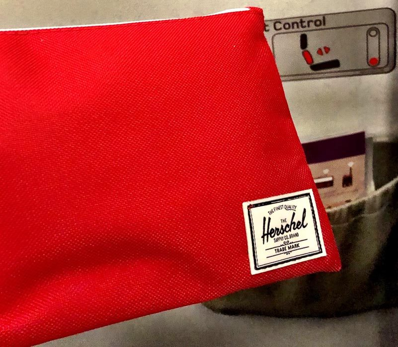 virgin atlantic premium economy a330 in flight toiletries bag