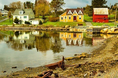 colourful houses on lunenburg harbour