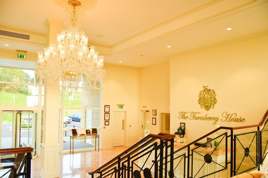 entry foyer at turnberry spa