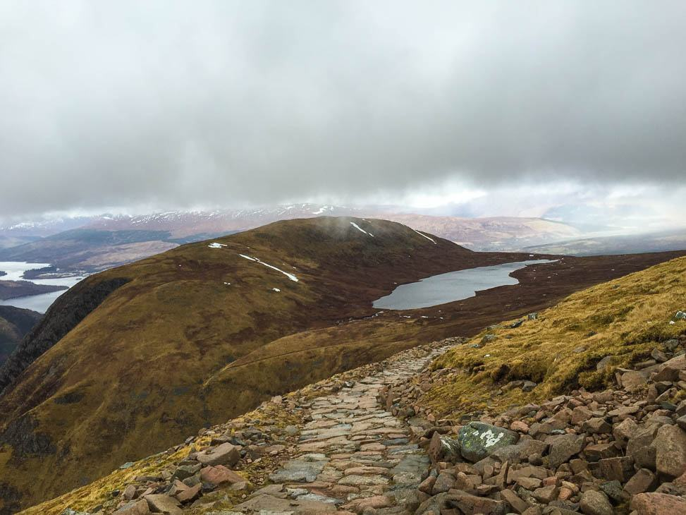 views from the climb up Ben Nevis