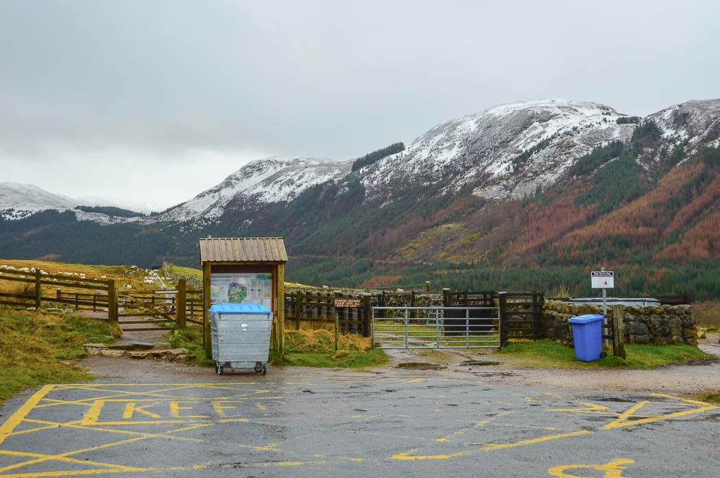 the entrance to climbing ben nevis