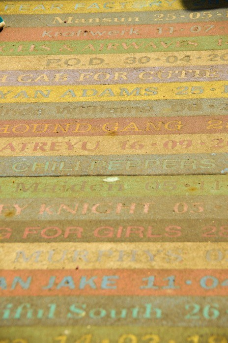 Glasgow footpath with song titles