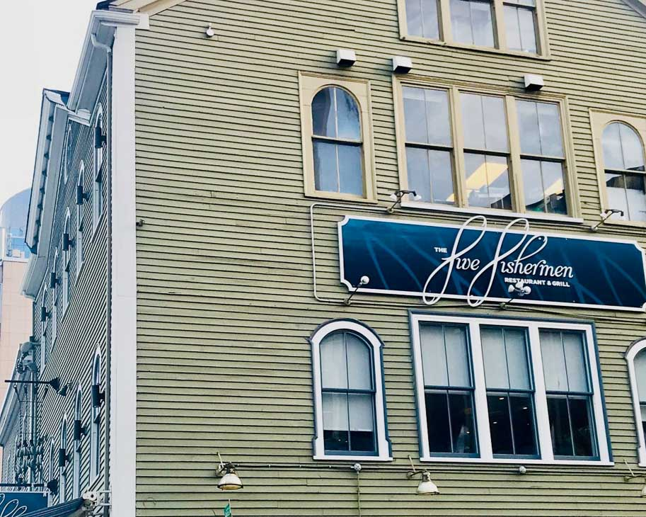 Five fishermen restaurant exterior halifax nova scotia