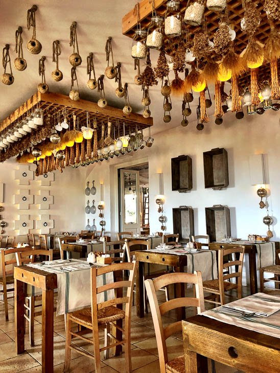 The breakfast room at Borgo Egnazia