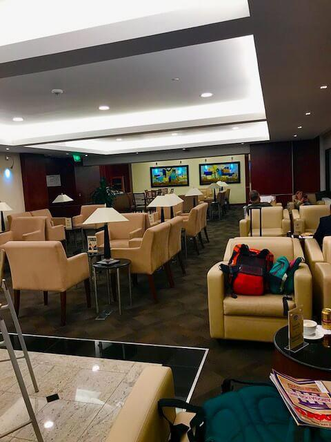 the lounge in broad view at medellin airport for business class