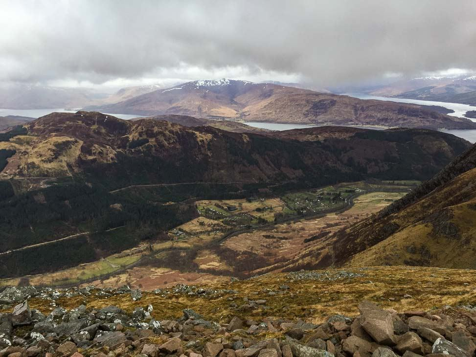 view over scotland from the climb up Ben Nevis