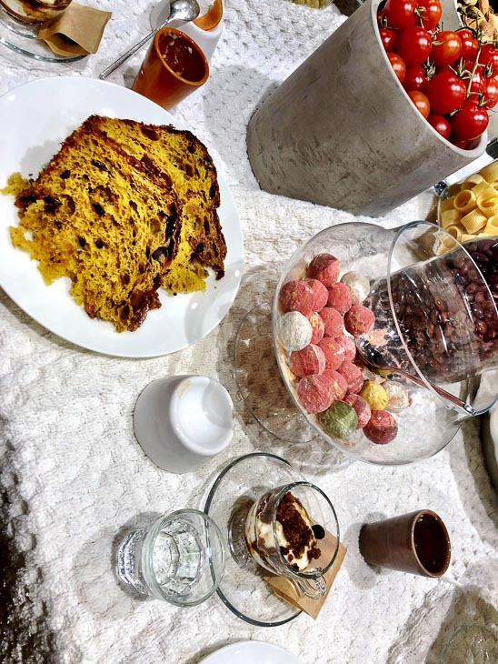 mix of desserts on a table