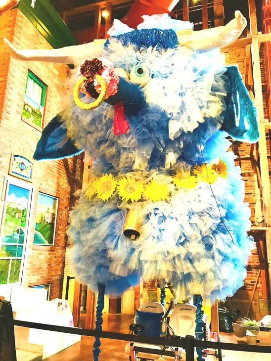 colourful animal float at the american visionary art museum