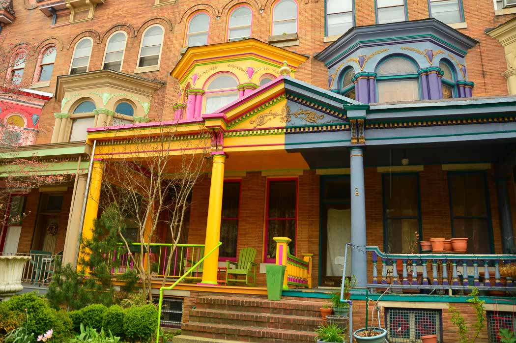 painted ladies houses in baltimore