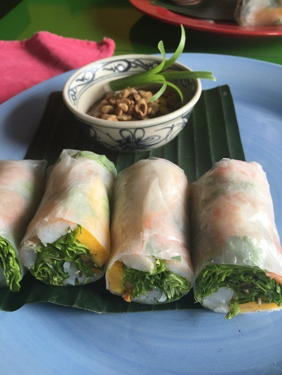 summer rolls at the mango room Hoi An Vietnam