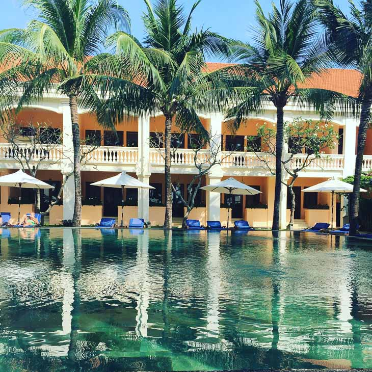 pool and accommodation at the anantara hoi an vietnam