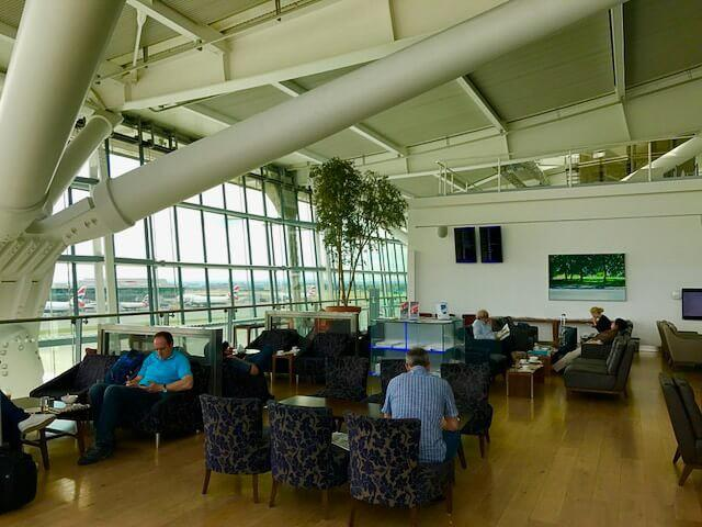 BA Lounge at Heathrow Terminal 5 used for Iberia business class flights
