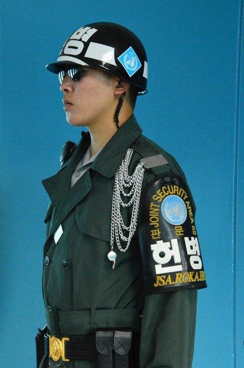 man in military uniform in DMZ korea