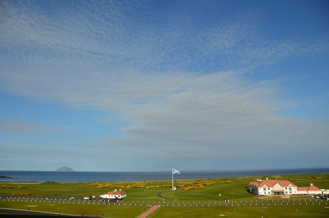 big blue skies over Turnberry in scotland