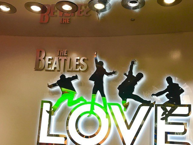 The beatles Love cirque du soleil neon sign