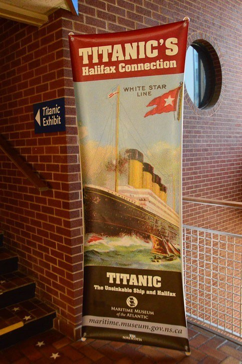 titanic poster at the maritime museum halifax nova scotia