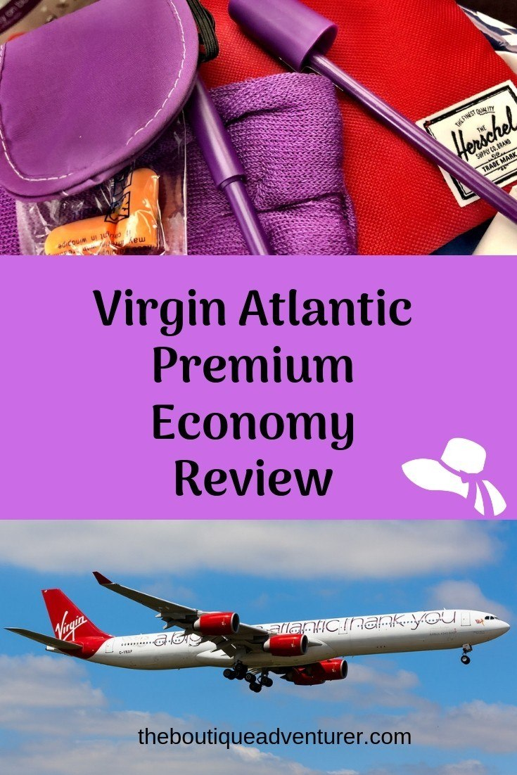 Looking at flying premium economy London-New York? Here is my Virgin Atlantic Premium Economy Review - does it justify the price and how does it compare to BA? It's all here! #virginatlantic #virginatlanticpremiumeconomy