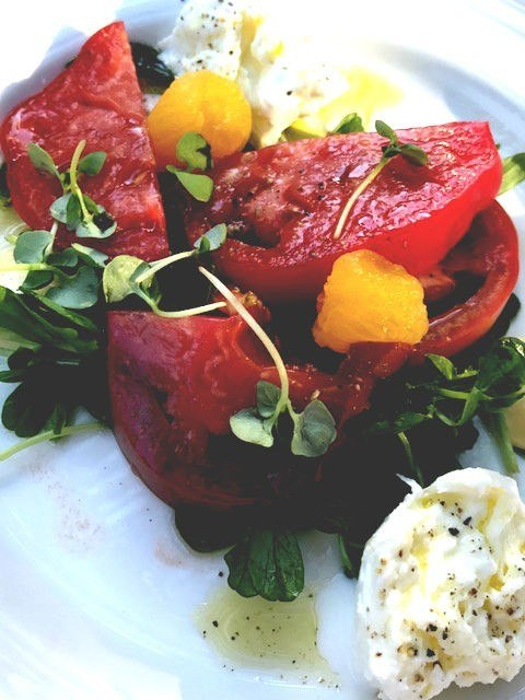 tomato salad at solbar solage