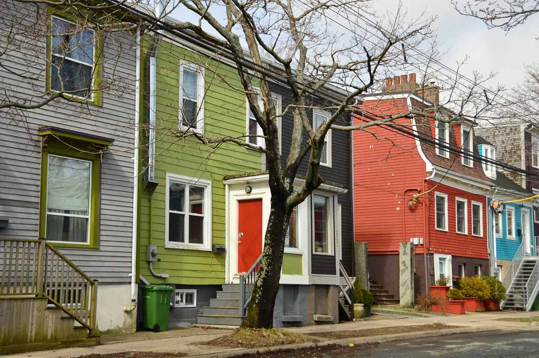 colourful houses in the north end of halifax