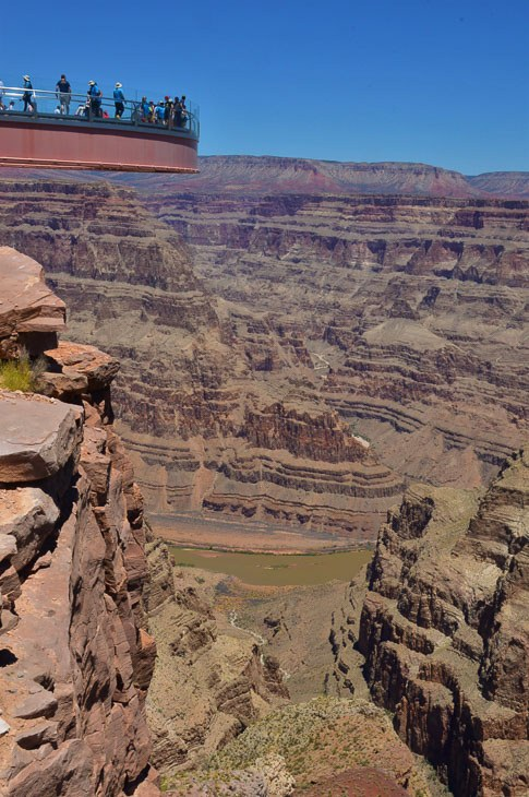 Viewing deck over Grand Canyon