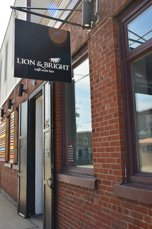 exterior of Lion and Bright restaurant Halifax