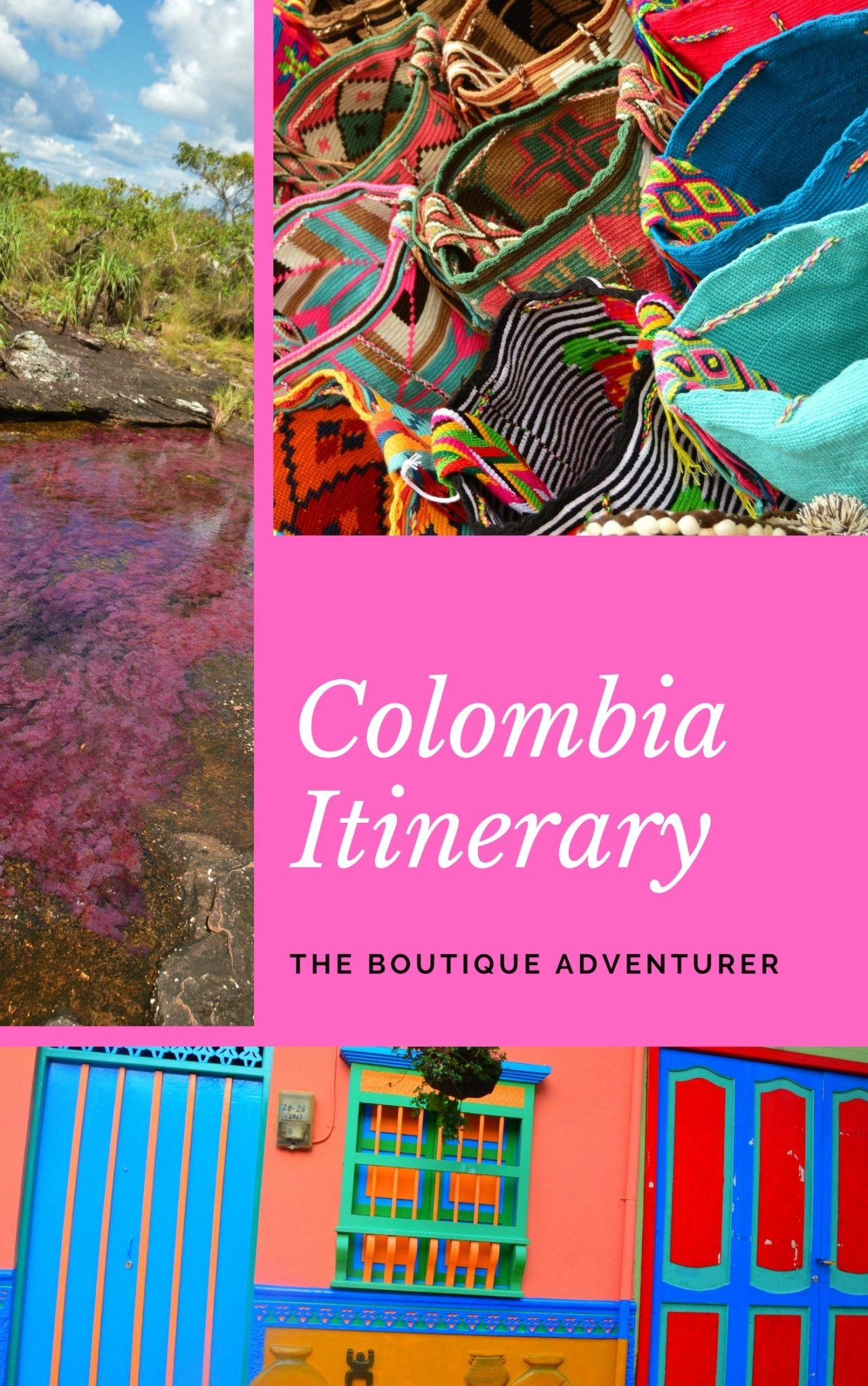 This 2 Week Colombia Itinerary includes the best places to go, boutique hotels to stay in, great places to eat and the best things to do when in wonderful Colombia! Medellin, Bogota, Cartagena and Cano Cristales #colombia #colombiaitinerary #medellin #bogota #canocristales