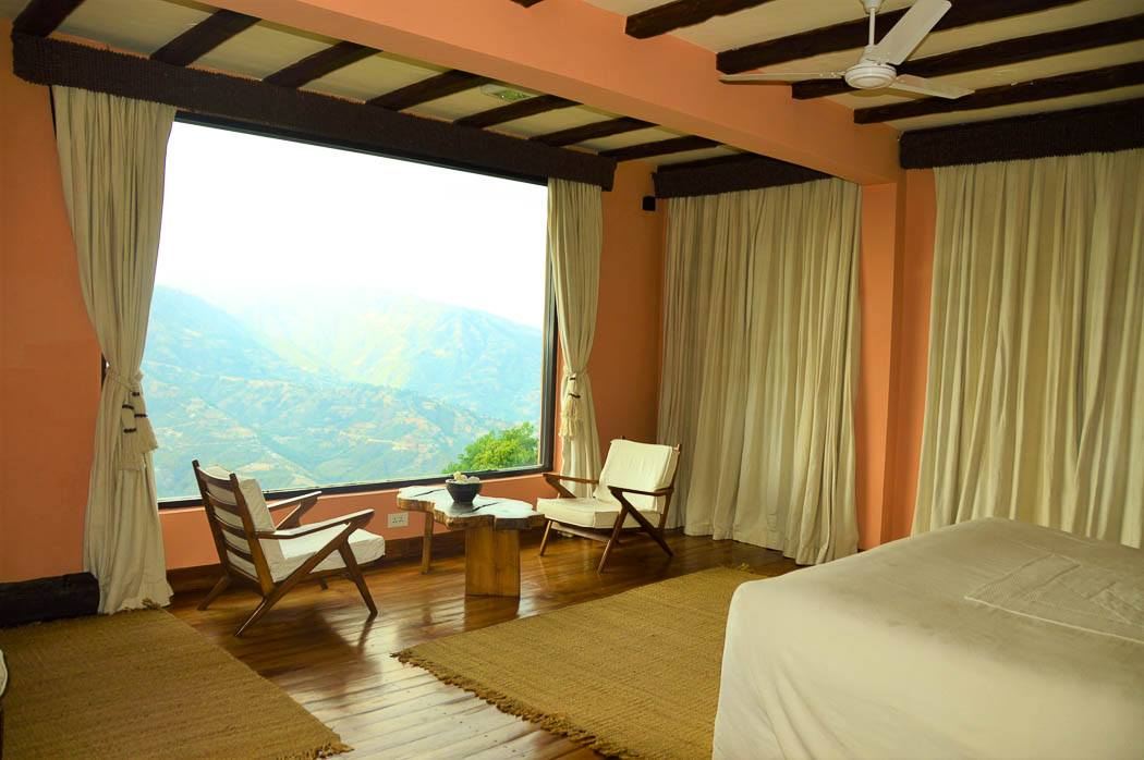 dwarika dhulikhel room with view overlooking the himalayas