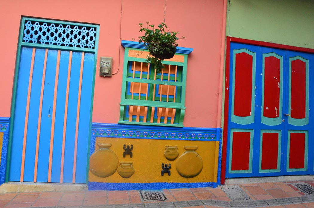 colourful doors and window frame in guatape