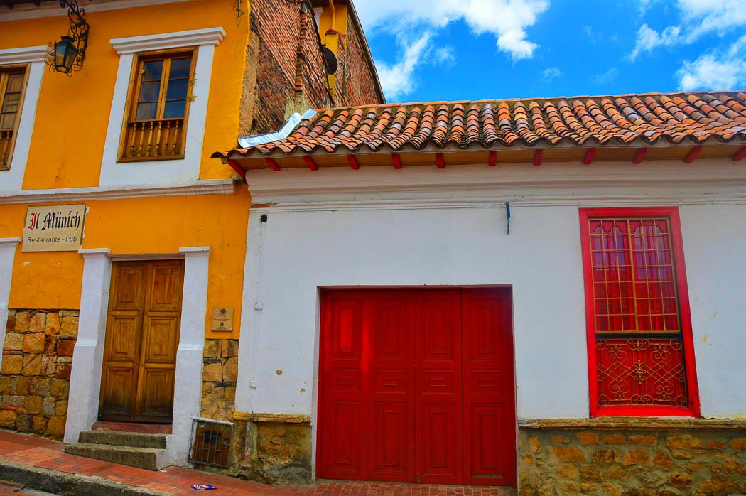 colourful houses in bogota