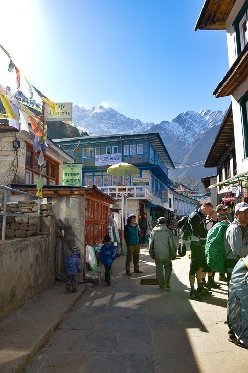 The main street in Lukla Nepal