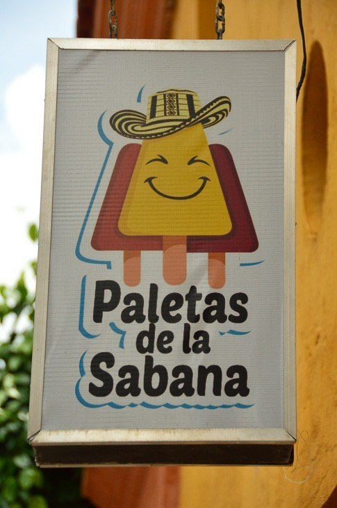 sign for paletas de la Sabana