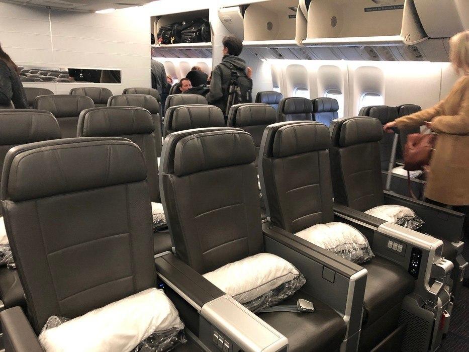 american airlines 777-200 premium economy cabin