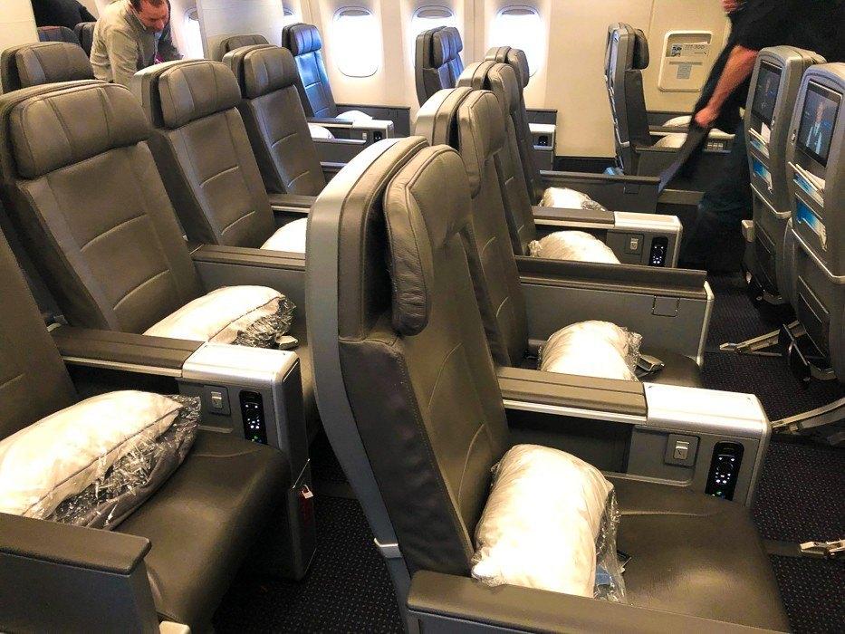AA 777 Premium Economy Cabin
