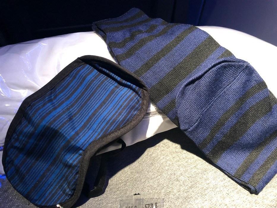 american airlines premium economy eye mask and socks