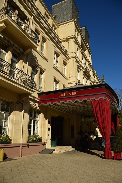 Entrance to Brenners Park Hotel and Spa Baden Baden
