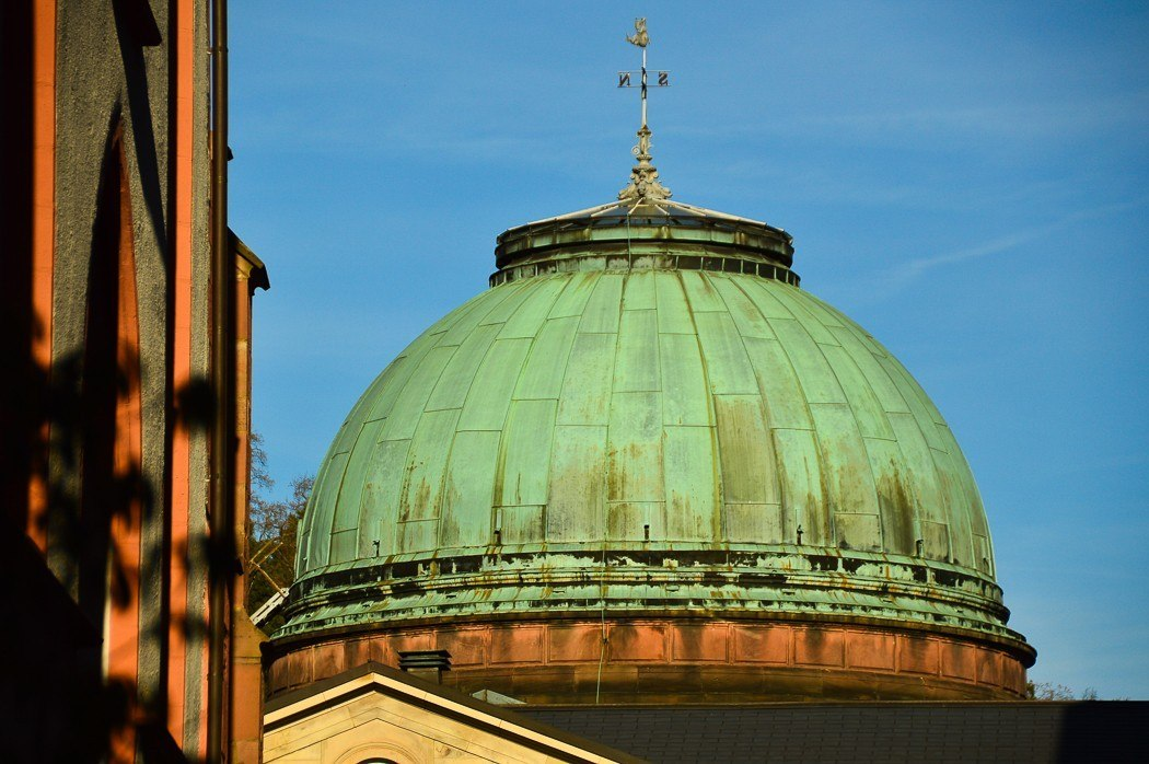 The dome of Friedrichsbad spa in Baden Baden
