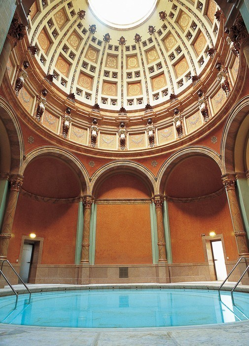 baden baden spa friedrichsbad interior pool and domed roof