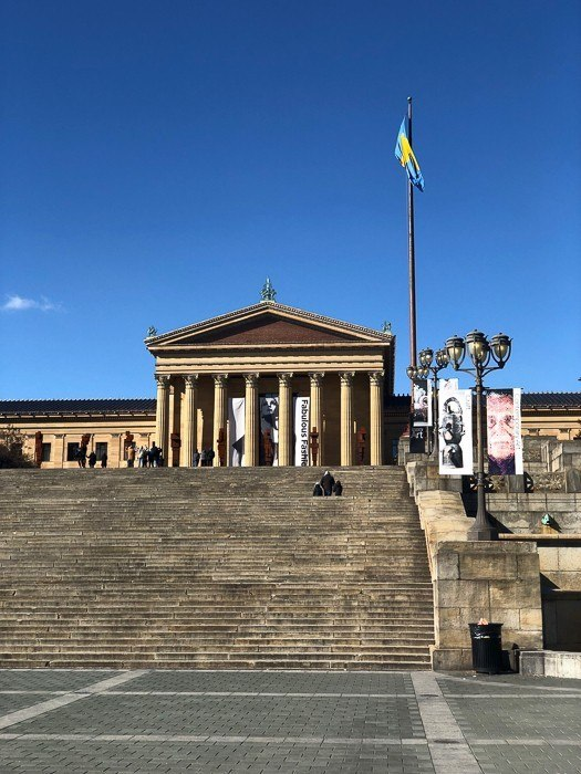 rocky stairs at the Philadelphia Museum of Art
