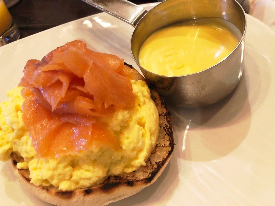 heritage-park-hotel-breakfast-wales-scrambled-eggs-salmon-hollandaise