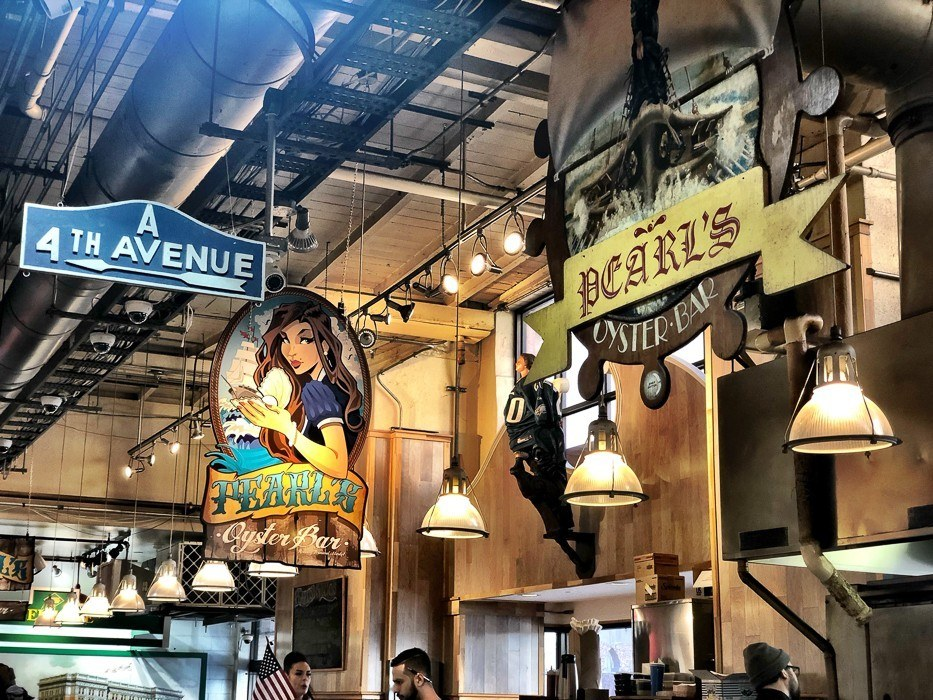 food signs at reading terminal market philadelphia