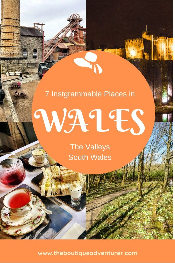 From the Welsh Mining Experience to homemade afternoon tea to the stunning Caerphilly Castle by night plus more - these are 7 Instagrammable Places to Visit in South Wales #wales #instagram #southwales