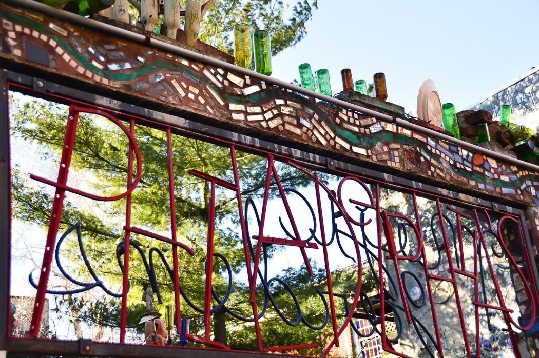 entrance to the magic garden in philadelphia