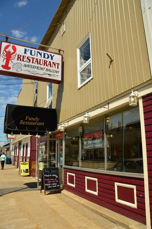Dibgy main street with Fundy restaurant