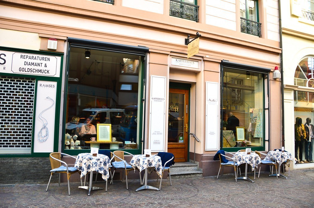 exterior of Kaffee House Baden-Baden and outdoor seating